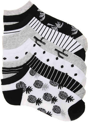 Mix No. 6 Tropical No Show Socks - 6 Pack - Women's