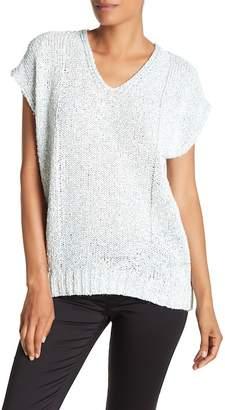 Lafayette 148 New York Drop Hem V-Neck Sweater