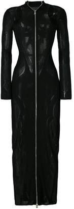 Balmain zipped fitted dress