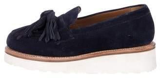 Grenson Suede Platform Loafers
