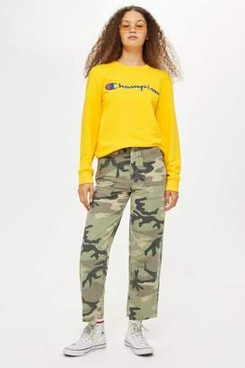 Topshop Camouflage Utility Trousers