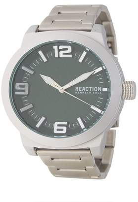 Kenneth Cole Reaction Men's Green 3 Hand Watch, 45MM