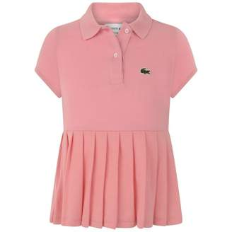 Lacoste LacosteGirls Pink Pleated Polo Top