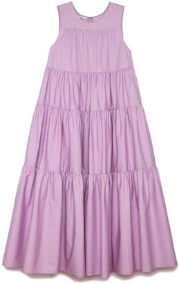 Co Japanese Cotton Tiered Dress