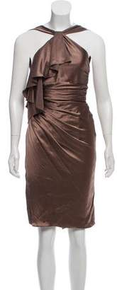 Versace Ruffled Silk Dress