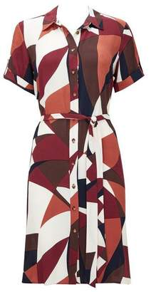 Wallis Rust Colour Block Shirt Dress