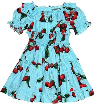 Dolce & Gabbana Exclusive to Mytheresa cherry printed cotton dress