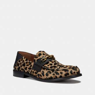 Coach Putnam Loafer With Leopard Print