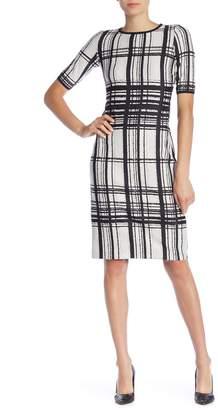 Taylor Plaid Short Sleeve Midi Dress