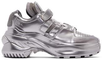Maison Margiela Silver Metallic Chunky Sneakers