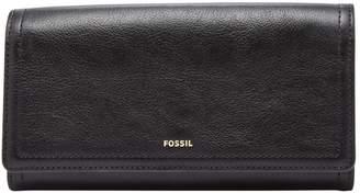 Fossil Logan RFID Flap Leather Clutch