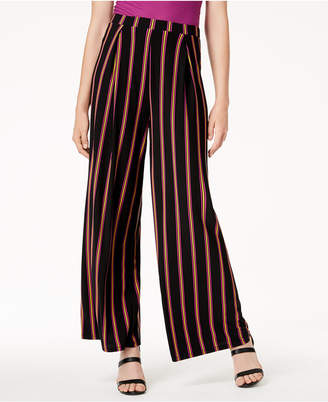 Bar III Striped Wide-Leg Pull-On Pants, Created for Macy's