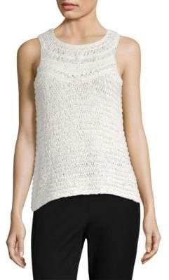 Donna Karan Crochet Tank Top