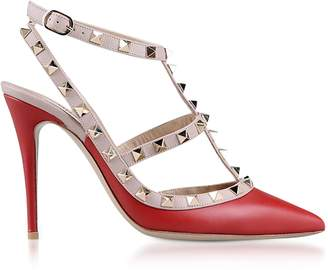 Valentino Red Rockstud Ankle Strap Pump