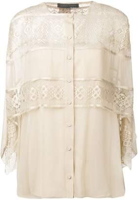 Alberta Ferretti layered lace blouse