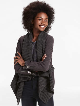 Lucky Brand Suede Sweater Jacket
