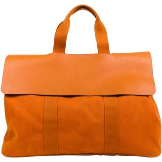 Hermes Valparaiso Orange Cloth Travel bags