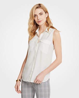 Ann Taylor Sleeveless Camp Shirt