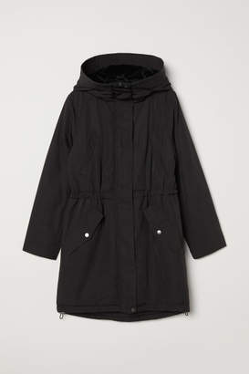 H&M Parka with Hood - Black
