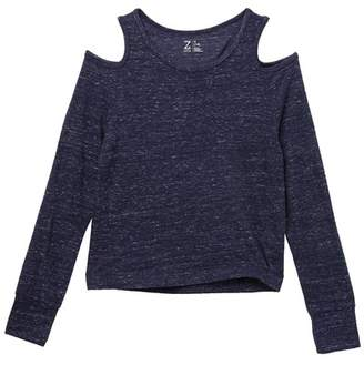 Zella Z by Open Shoulder Long Sleeve Top (Little Girls & Big Girls)