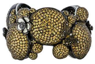 MCL by Matthew Campbell Laurenza Multicolored Sapphire Butterfly & Flower Cuff
