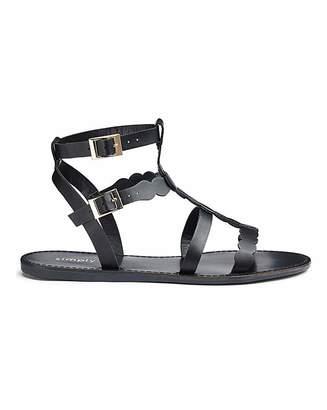 Daniel Footwear Daphne Gladiator Sandal Extra Wide Fit