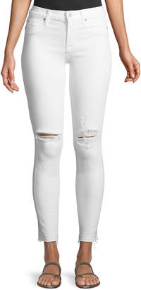 Hudson Nico Mid-Rise Skinny Ankle Jeans with Raw Hem