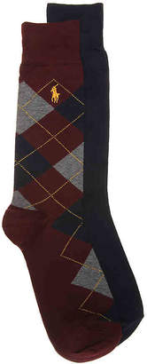 Polo Ralph Lauren Argyle Crew Socks - 2 Pack - Men's