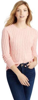 Vineyard Vines Plaited Cashmere Coral Lane Sweater