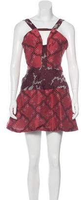 Michael Van Der Ham Jacquard Mini Dress