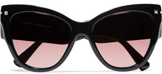 Valentino Garavani Cat-eye Acetate Sunglasses - Black