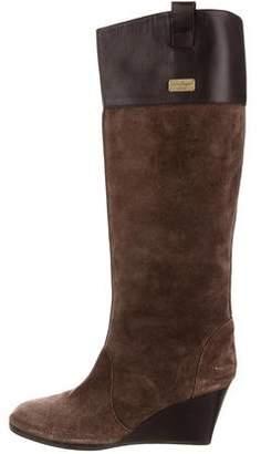 Salvatore Ferragamo Suede Round-Toe Boots