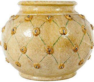 One Kings Lane Vintage Dolfi Glazed Ceramic Planter - La Maison Supreme