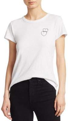 Rag & Bone Double Heart Embroidered Graphic Tee