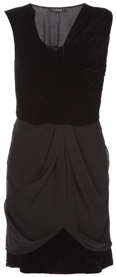 Cotélac Velvet and silk dress