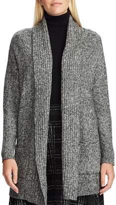 Chaps Open-Front Cotton-Blend Cardigan