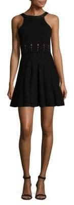 Cushnie et Ochs Sleeveless Mini Flare Dress