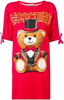 Moschino bear print T-shirt dress