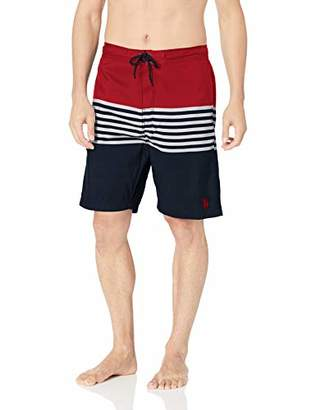 U.S. Polo Assn. Men's Swim Short with Horizontal Stripes