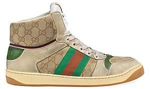 Gucci Men's Men's Screener GG High-Top Sneaker
