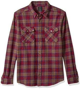 RVCA Men's Thatll Work Long Sleeve Woven Flannel