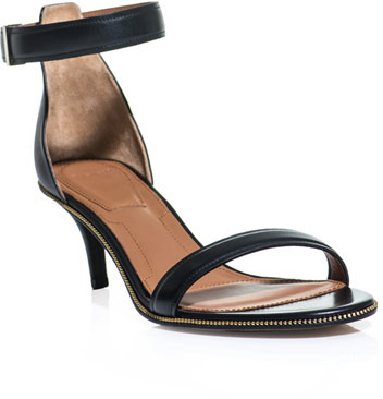 Givenchy Zip trimmed ankle-strap sandals