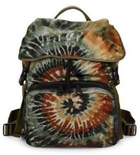 Valentino Tie-Dye Flap Top Backpack