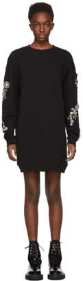 McQ Black Diamante Sweatshirt Dress