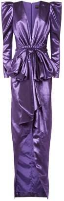 Alexandre Vauthier Lame Bow Applique Gown