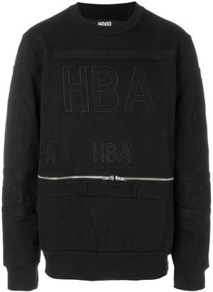 Hood by Air belt zip sweatshirt