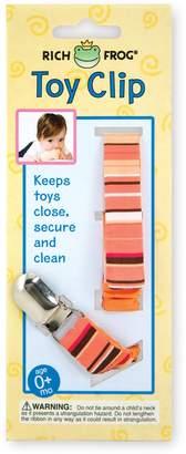 Rich Frog Toy Clip or Pacifier Holder - Pink, Blue or Orange (Orange)