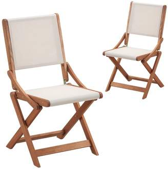Set of 2 Parklands Timber Outdoor Folding Chairs