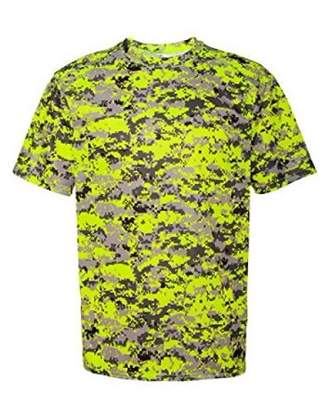 Badger Sportswear 4180 Badger Men's Short Sleeve Sublimated Camo Tee - Safety Yellow Digital - X-Large
