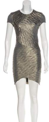 Torn By Ronny Kobo Ruched Mini Bodycon Dress